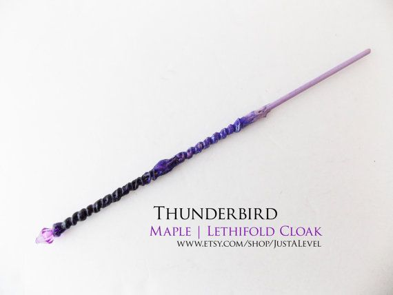 Magic Wand Harry Potter Inspired 10 Inch Purple and Gold Handmade Free Shipping