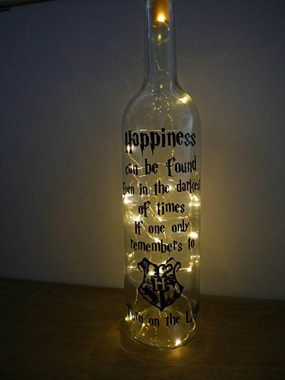 Dumbledore Quote Harry Potter Vinyl Lantern//Vase//Bottle Decal