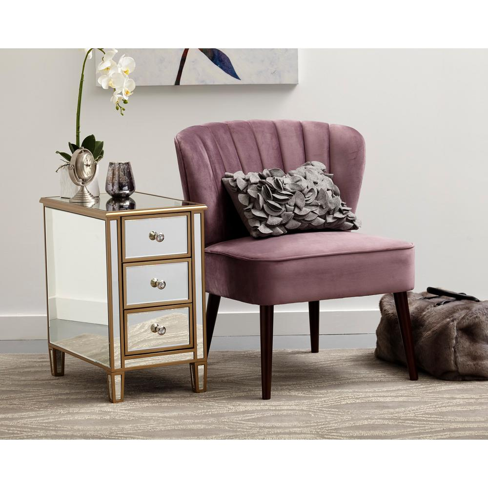Pulaski Furniture Channeled Back Armless Luxor Lilac Purple Accent