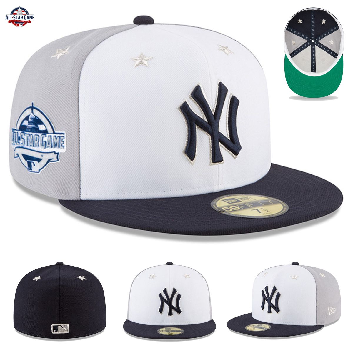 20fbb692873 New York Yankees New Era 2018 MLB All-Star Game Hat Cap On-Field 59FIFTY  Fitted. Each year you look forward to MLB All-Star Week and seeing all your  ...