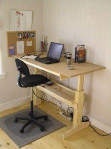 Build An Office Desk Diy Standing Desk Plans Diy Standing Desk
