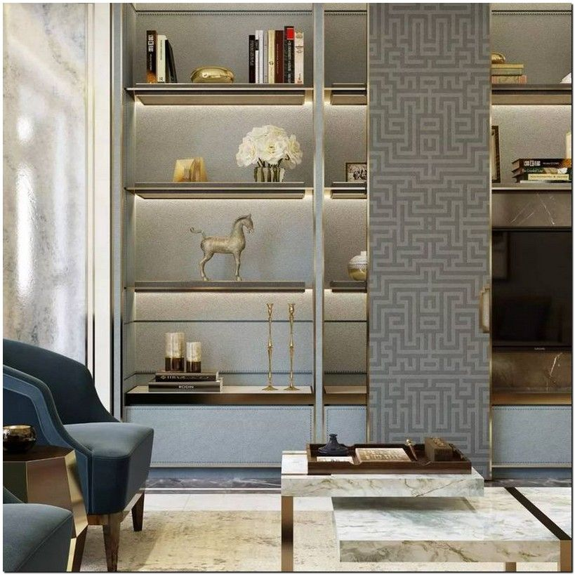 33 Gorgeous Living Room Shelving Design Ideas For Copy 23 Furniture Design Shelving Design Luxury Living Room