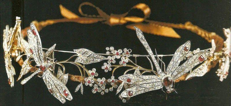Tiara Mania: Ruby Dragonfly Tiara (Italy Royal Family)