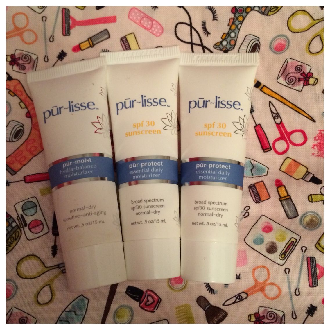 From Ipsy: 3 Purlisse products.