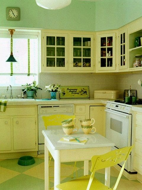 Yellow Kitchen Designs Cheerful Summer Interiors 50 Green ...