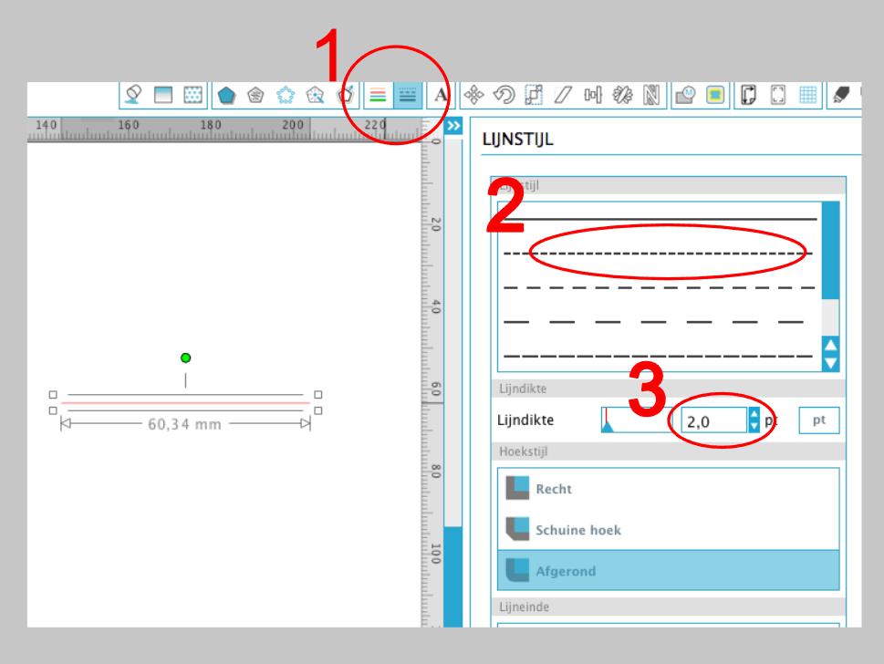 Hoe maak je van je gewone lijn een stippellijn in silhouette studio tutorials silhouette - Hoe je je studio ontwikkelt ...