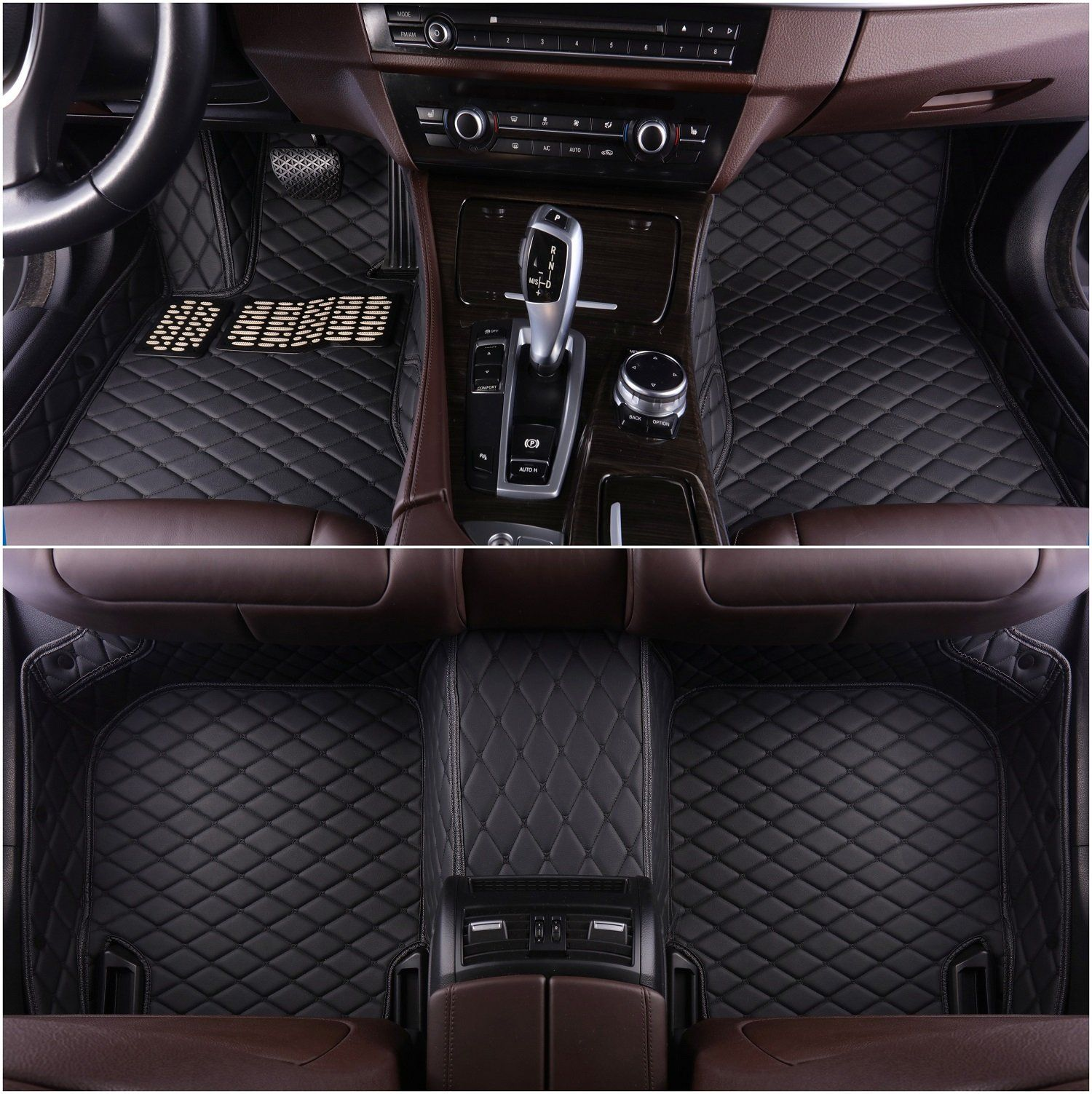 Okutech Custom Fit XPE Leather 3D Full Surrounded Waterproof Car Floor Mats For Mercedes Benz GL