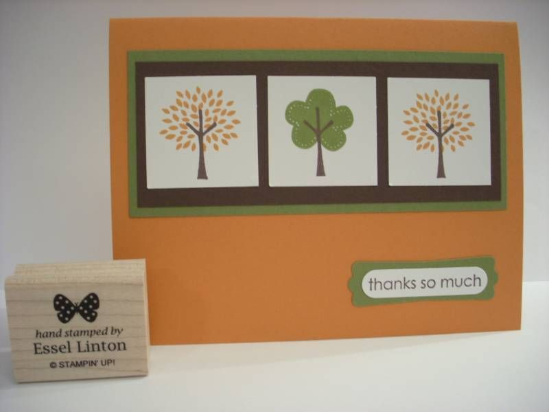 Trendy Thank You by StampwithLove - Cards and Paper Crafts at Splitcoaststampers