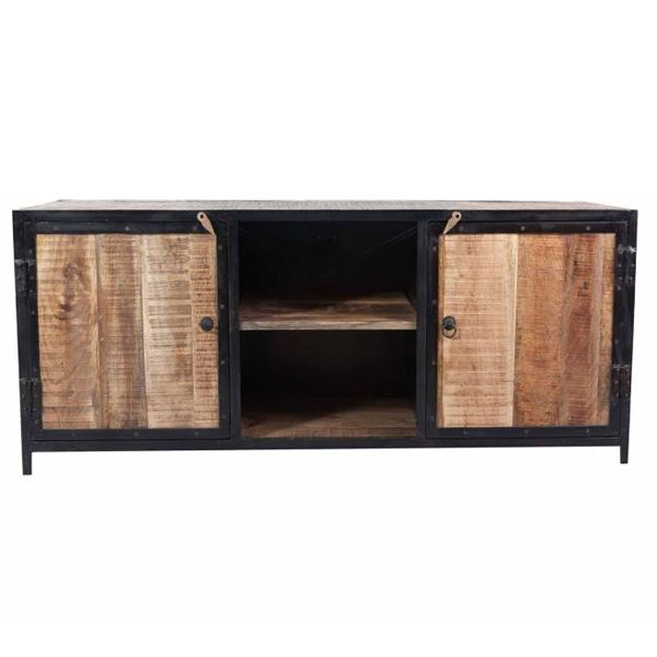 tv m bel rack nori b 150 cm lowboard 2 t ren fernsehtisch kommode metall holz m bel industry. Black Bedroom Furniture Sets. Home Design Ideas
