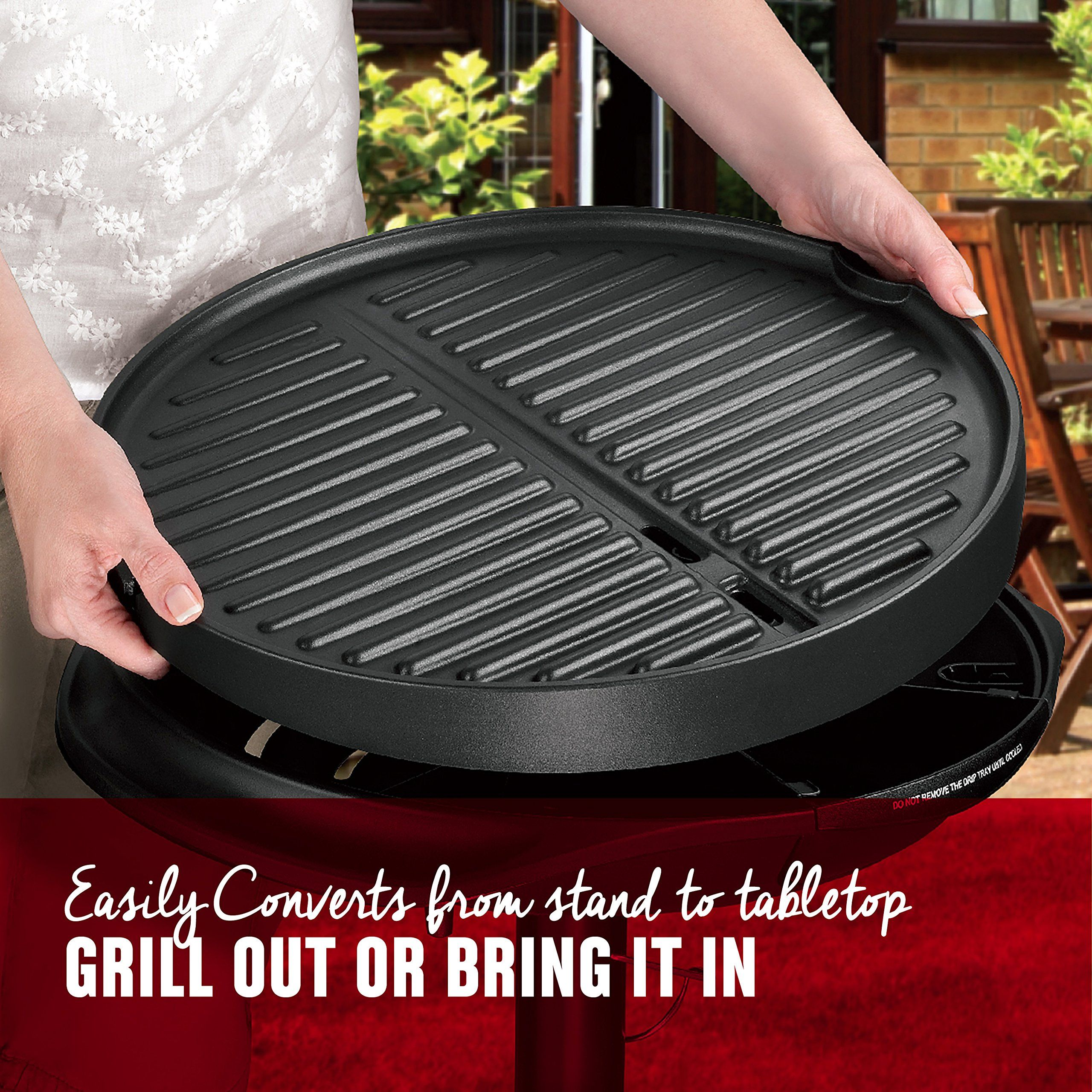 George Foreman 15Serving Indoor/Outdoor Electric Grill ...