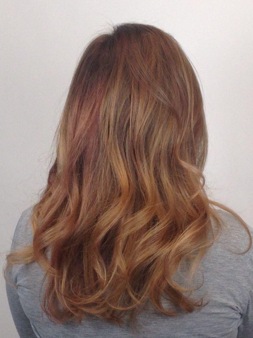 Blonde hair raspberry highlights #paulmitchell