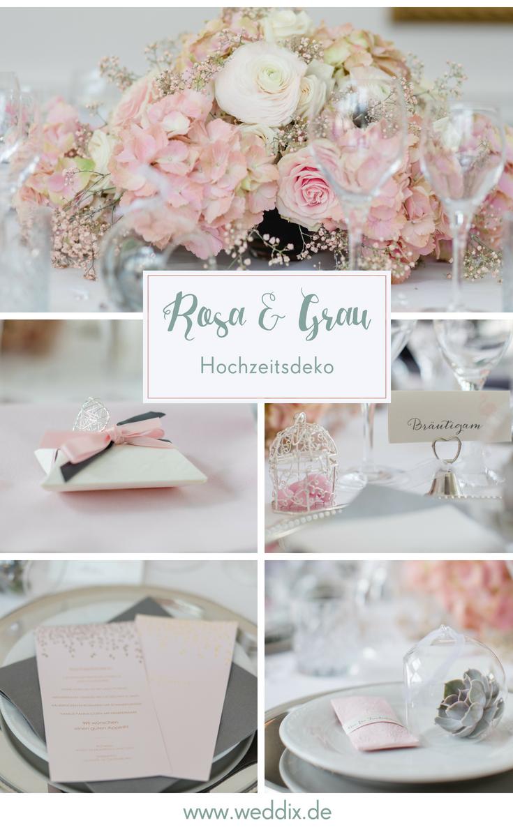 Die Perfekte Hochzeitsdeko In Rosa Grau Hochzeitsdeko Rosa Grau