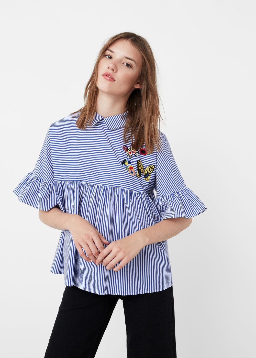37542fff7 Blusa popeline riscas - Camisas de Mulher