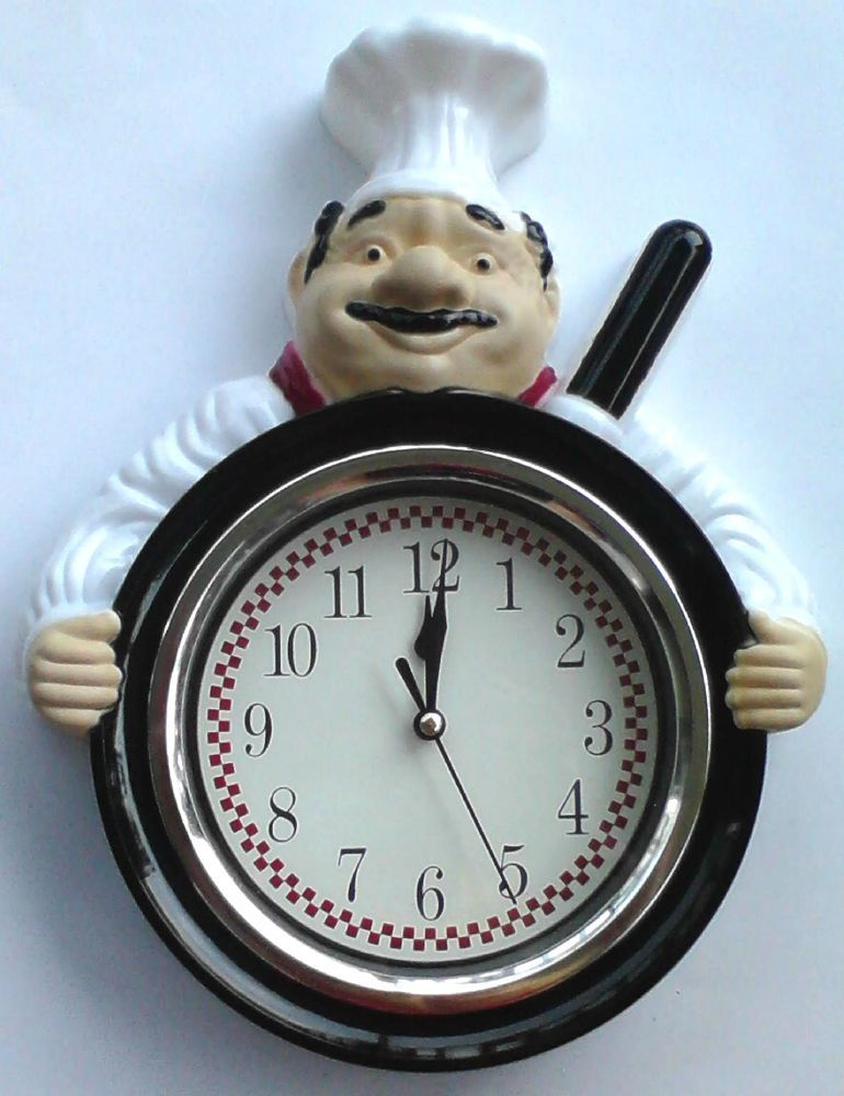 Outstanding Fat Italian Chef Pizza Pan White Black Red 12 Hr Clock Home Interior And Landscaping Transignezvosmurscom