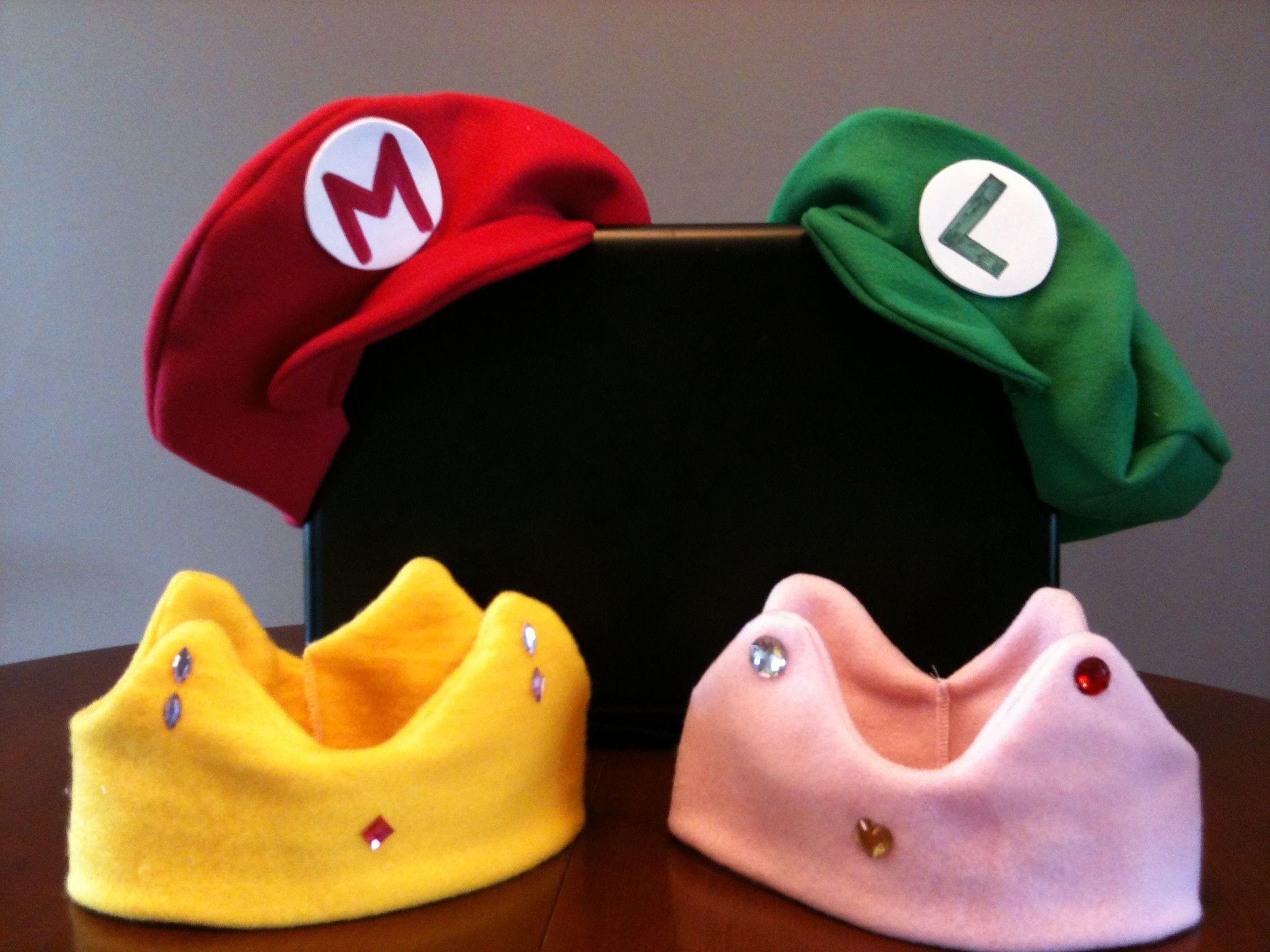 Mario and luigi and princess peack birthday party hats - Luigi mario party ...
