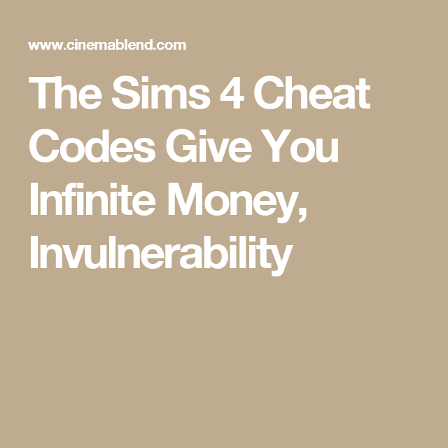 sims unlimited money cheat