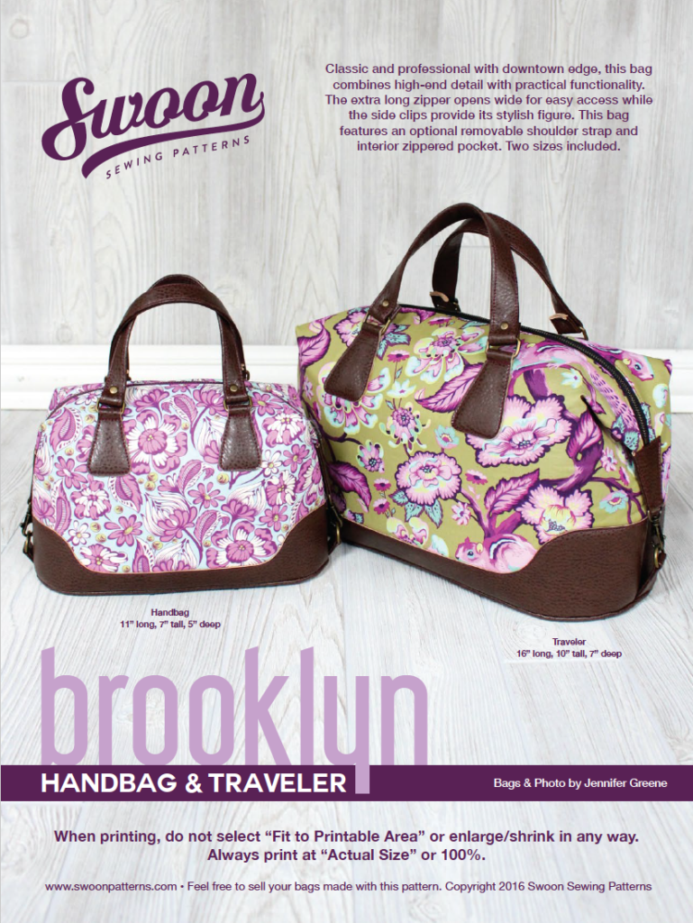 Bag of the Month Club: Brooklyn Handbag & Traveler | Nähen