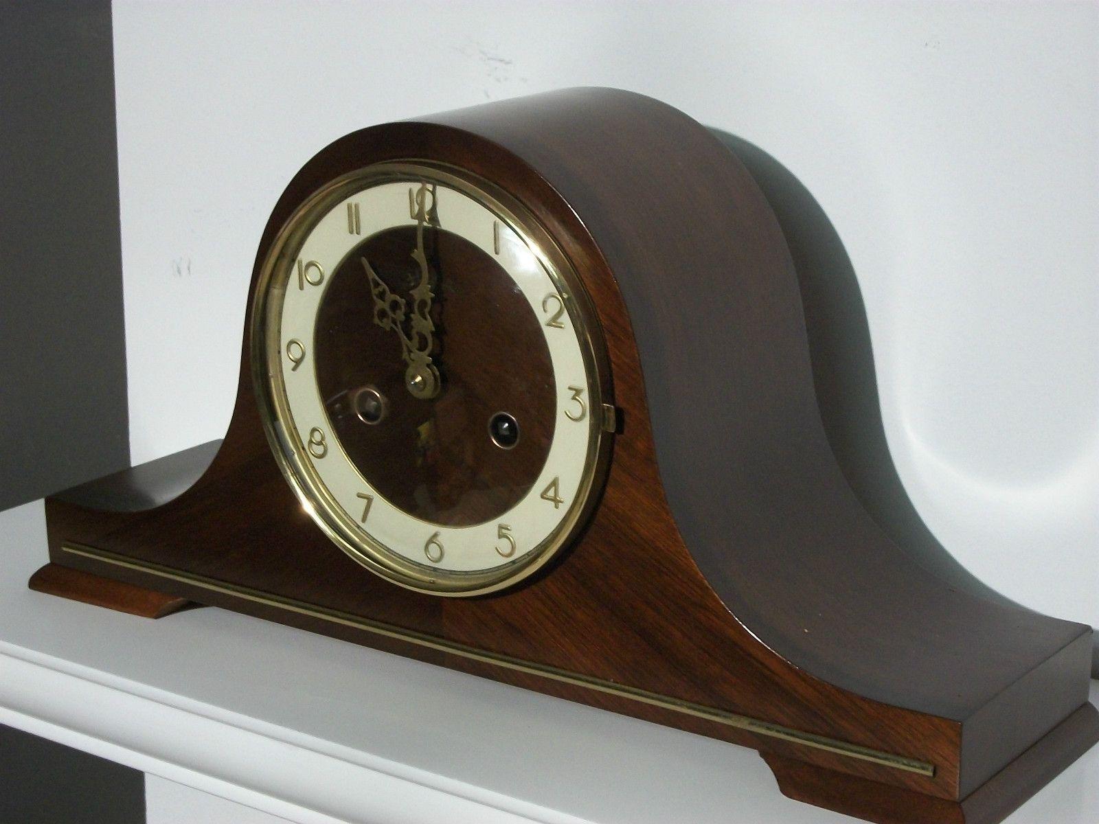Vintage Antique Heco Bim Bam Chime Mantel Clock Ebay
