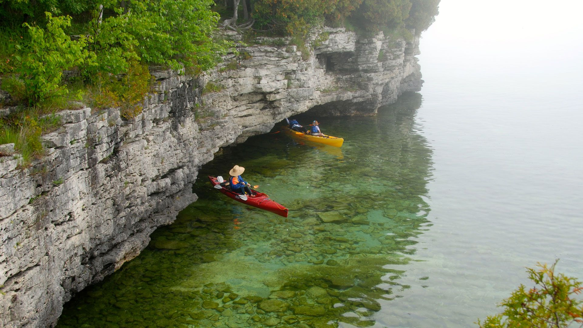 Door County Kayak Tours Caves Bluffs Zipline Amp Paddleboard