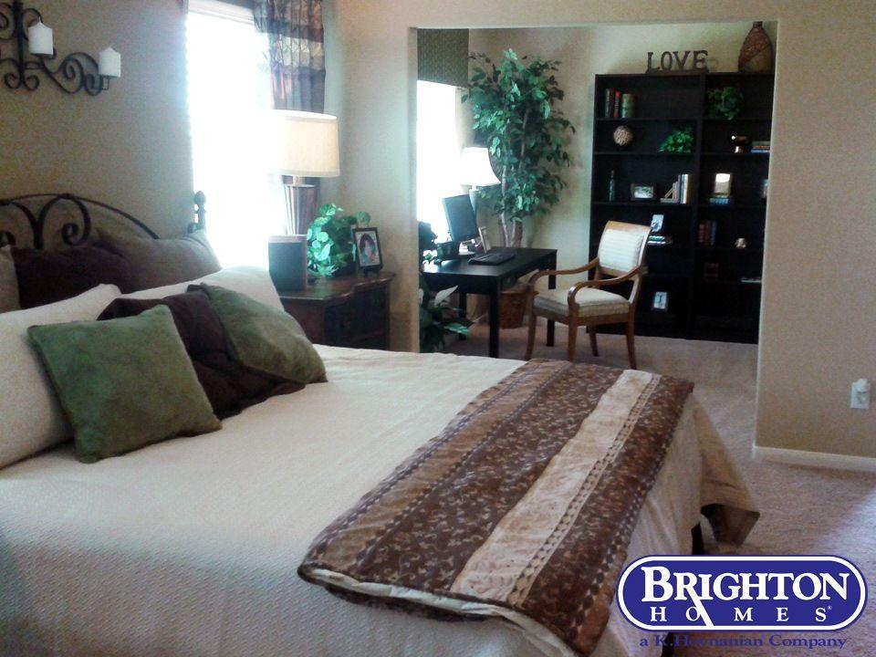 cozy #master bedroom with #private #study. Bombay model at Emerald Stone   Brighton Homes® www.BrightonHomes.com