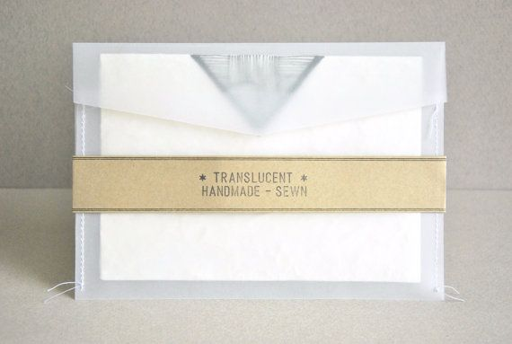 a7 5x7 translucent sewn envelopes for 5 x7 cards made of high