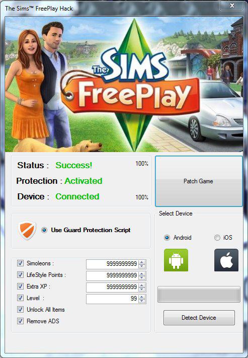 como hackear los sims free play para android