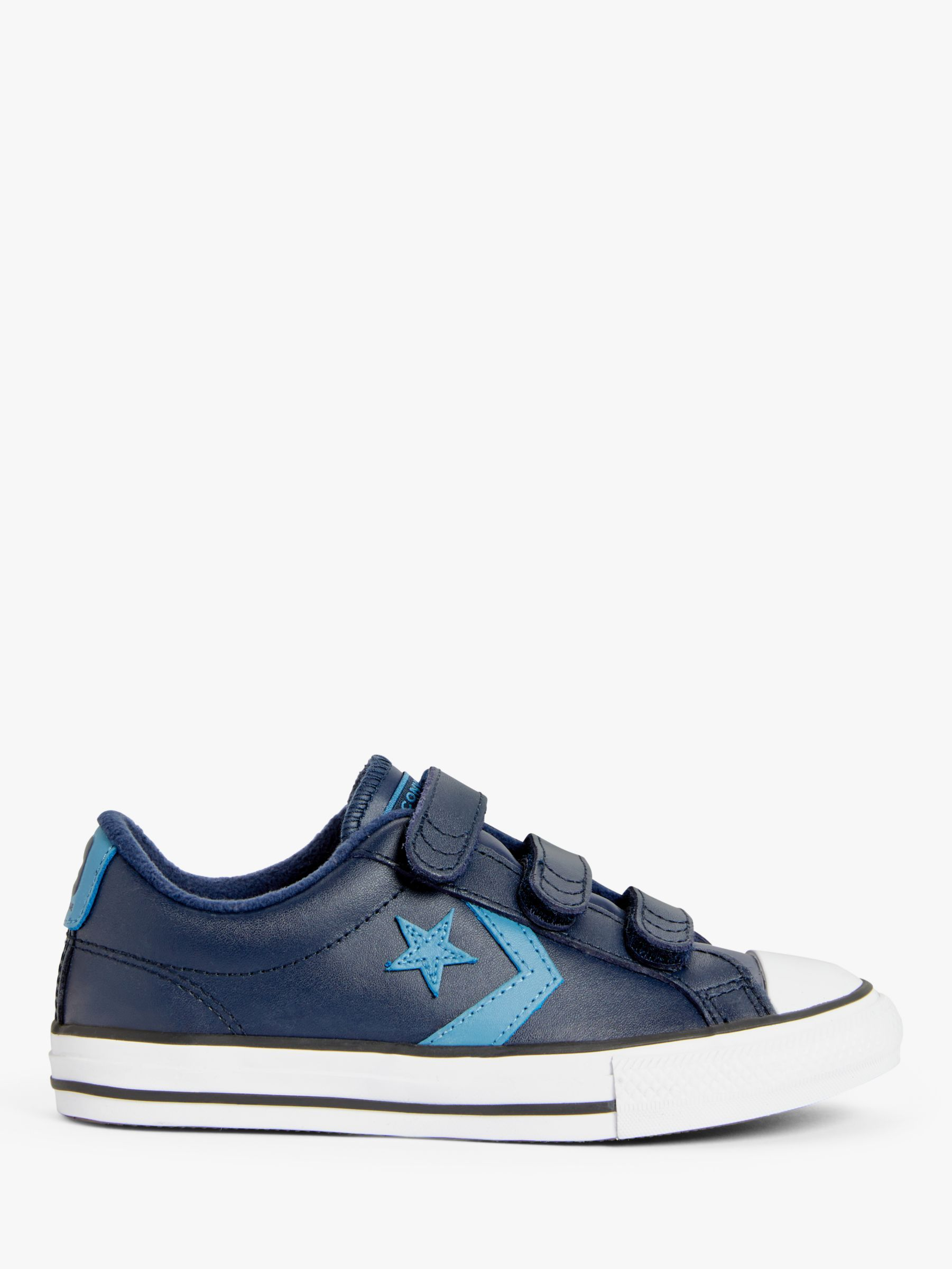 Converse Children's Star Player 3V Leather Trainers, Obsidian Aegan