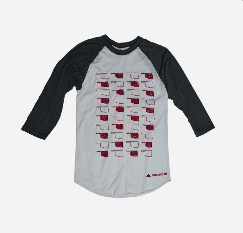 States All Over Baseball Tee - Fishwater Tees
