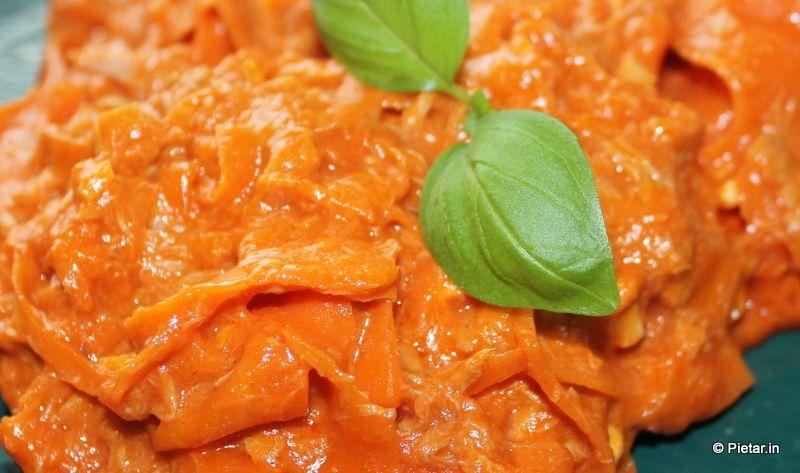 Aivan ihanaa porkkanapastaa