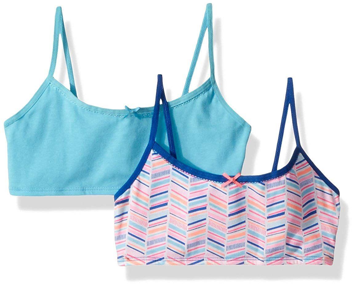 46b384e779d Hanes Girls' Big Crop Top Bralette 2-Pack Bralette Crop Top, Crop Tops