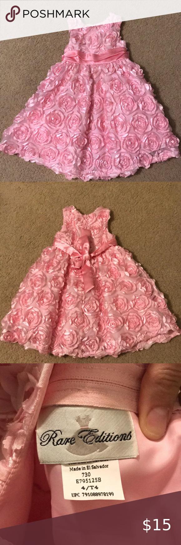 Pink Rosebud Dress 4t In 2020 Girls Pink Dress Rosebud Dress Rare Editions Dress [ 1740 x 580 Pixel ]