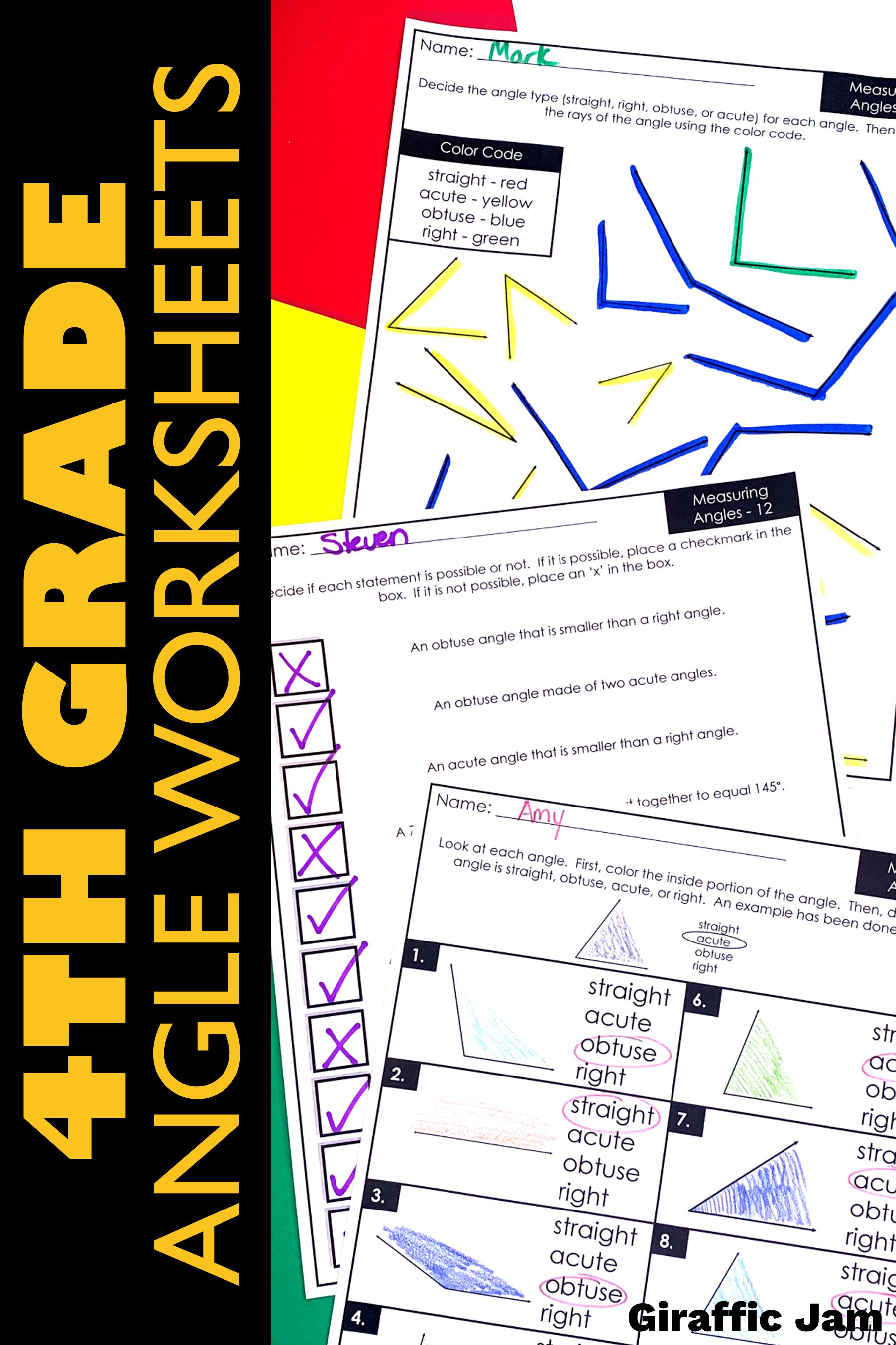 4th Grade Angle Measurement Worksheets With Digital Google Slides Version Google Classroom Activities Measurement Worksheets Teaching Measurement [ 2700 x 1800 Pixel ]