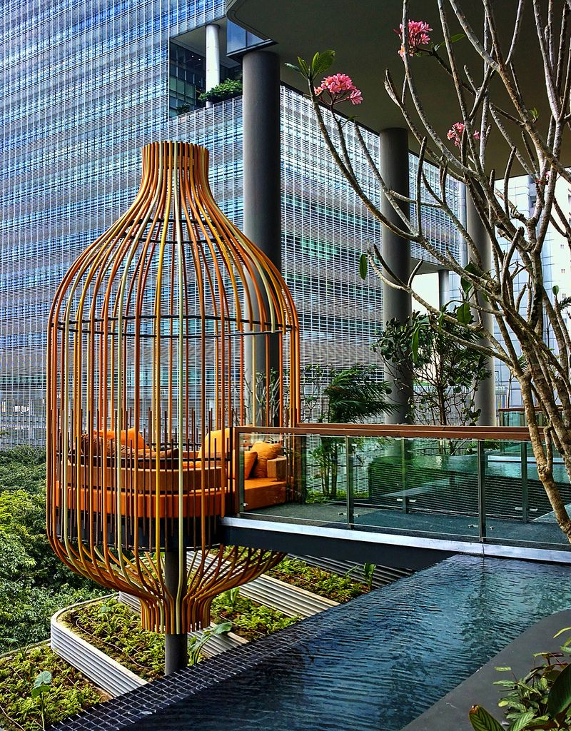 Giant Bird Cage Park Royal Hotel