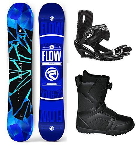 Flow 2018 Burst Mens Complete Snowboard Package Bindings