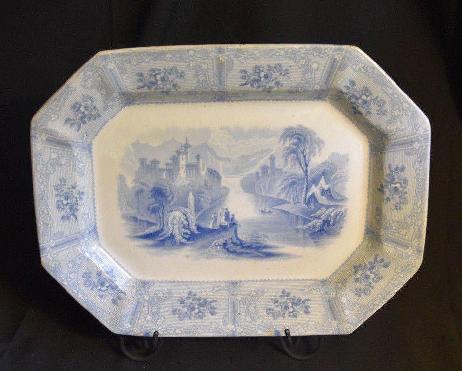 J. Heath Ontario Ironstone Light Blue Transferware Platter ...
