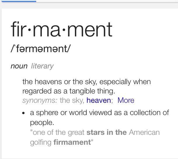 Definition Of Firmament