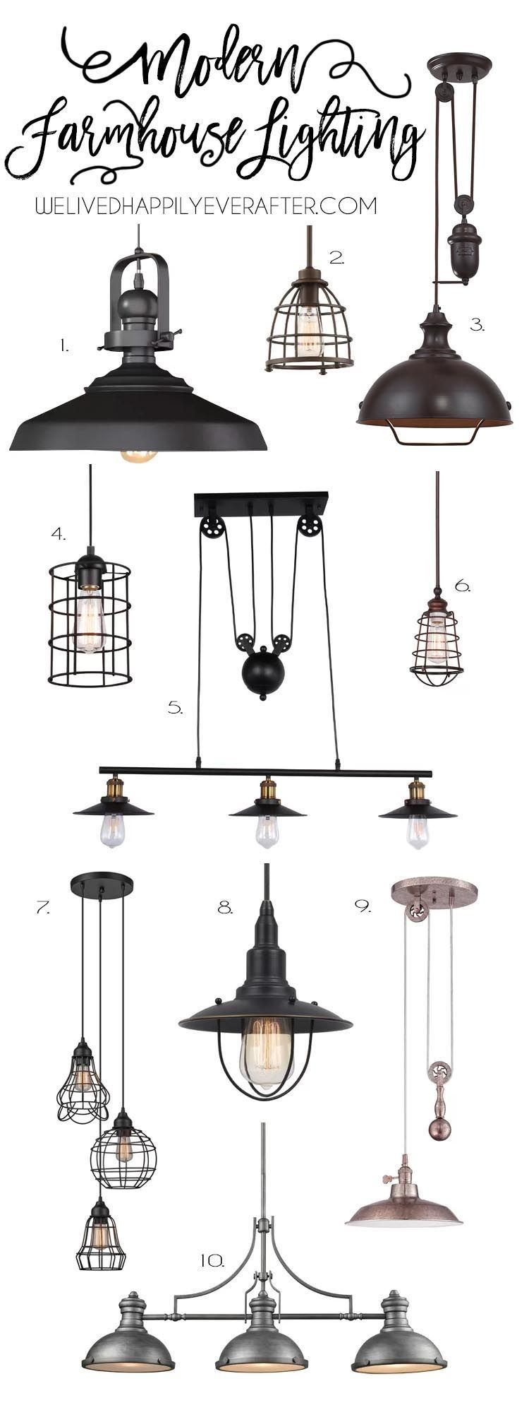 Rustic Industrial Modern Farmhouse Metal Lighting For Your Home Decor- #HannahsFarmhouseFavs #modernfarmhouse Rustic Industrial Modern Farmhouse Metal Lighting For Your Home Decor #industrialfarmhouselivingroom