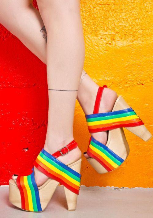 okaywowcool:  rainbow heels
