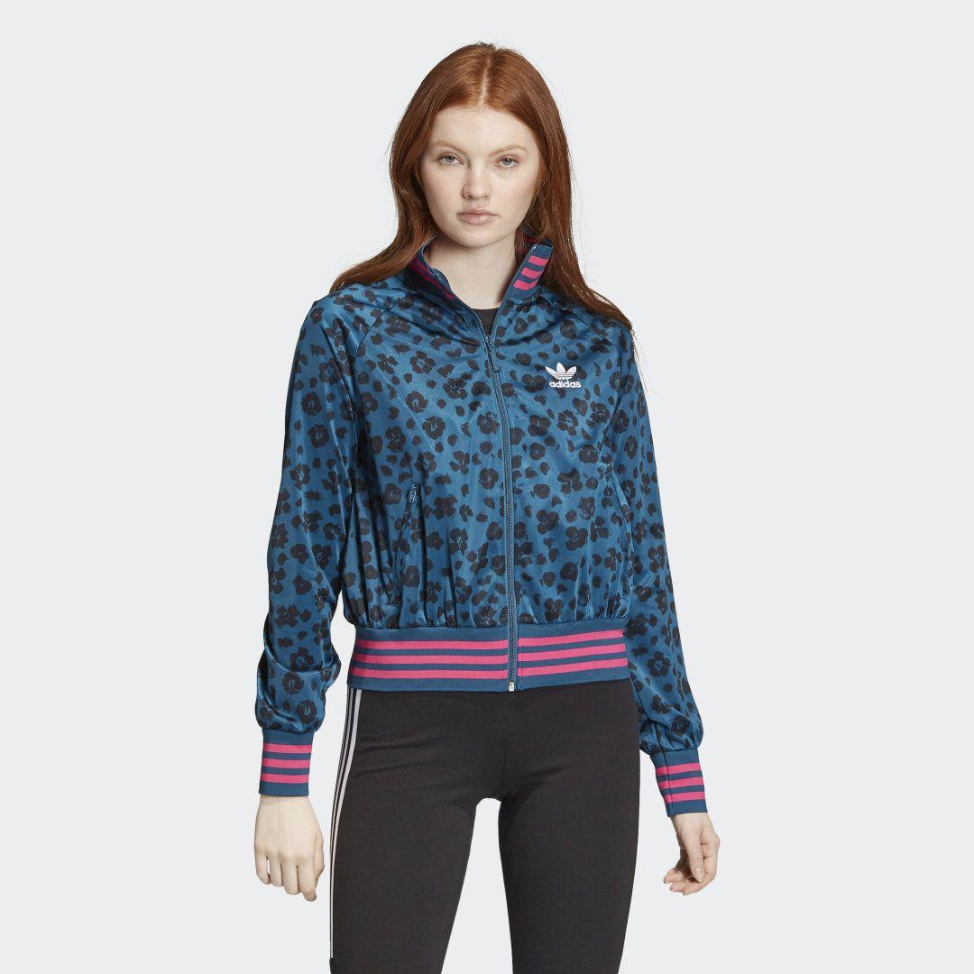 Adidas Allover Print Track Jacket Blue Adidas Us Jackets Tracksuit Women Leopard Print Jacket [ 1080 x 1080 Pixel ]