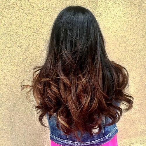 40 Vivid Ideas For Black Ombre Hair Black Hair Ombre Blonde Hair Tips Ombre Hair Blonde