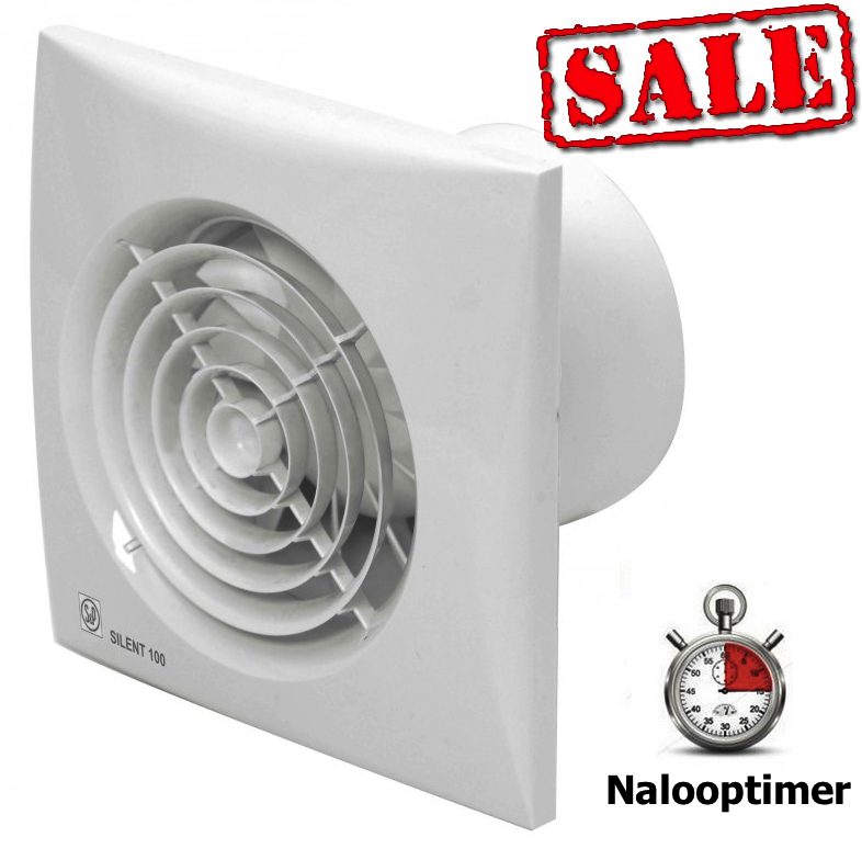 Badkamer/toilet ventilator Soler & Palau Silent (100CRZ) - Ø 100mm ...