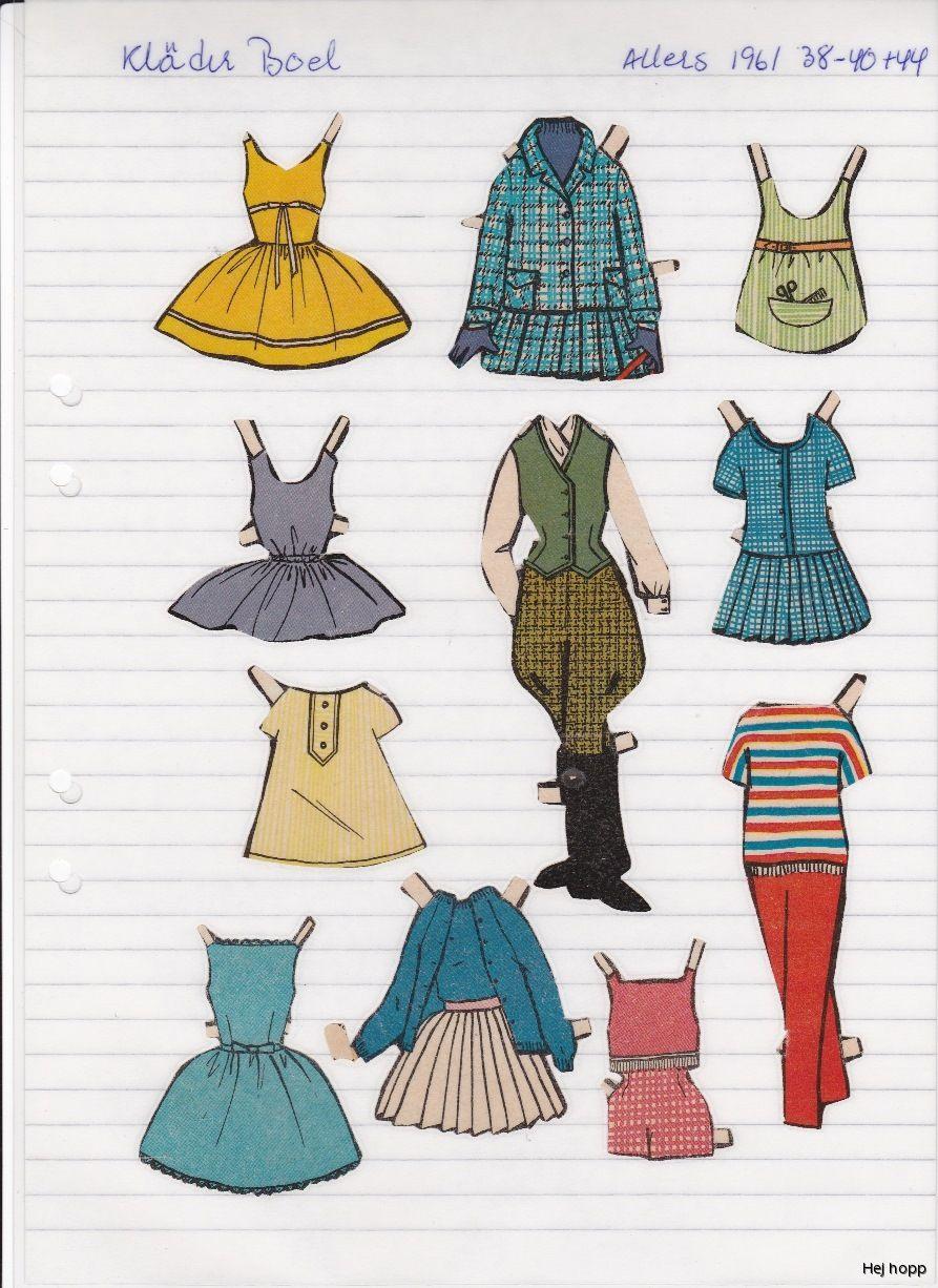 1960 toys images  Allers     Maggans nostalgiska klippdockor  Euro Paper