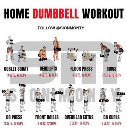 New Fitness Exercises For Men Muscle 53 Ideas Dumbbell Workout At Home Full Body Weight Workout Dumbbell Workout