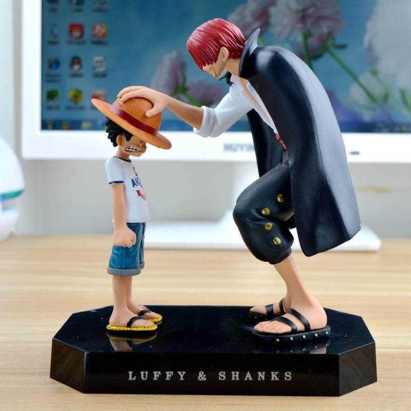 Anime Straw Hat Luffy Shanks Red Hair Action Figures Ornaments Model Toys