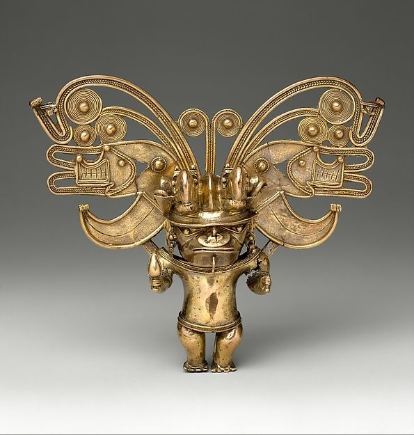 Figure Pendant -  Date: 10th–16th century Geography: Colombia Culture: Tairona Medium: Gold