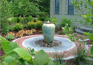 Atlanta Hardscape Fountain Urn Waterfall By Arnold Masonry And Concrete Via Flickr Backyard Water Feature Fountains Outdoor Water Features In The Garden