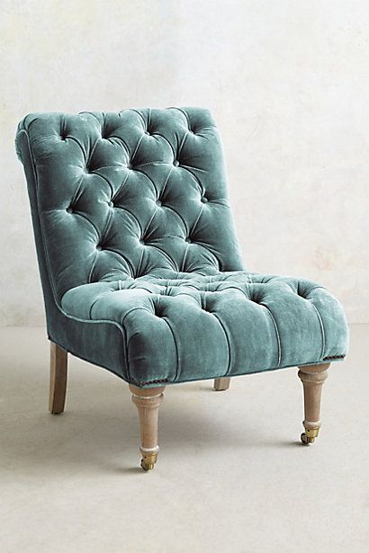 Slub Velvet Orianna Slipper Chair Furniture Chair Interior