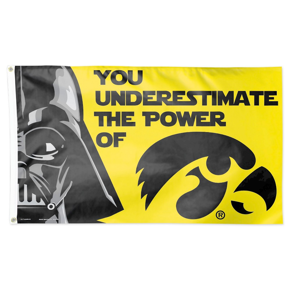 NCAA Iowa Hawkeyes Deluxe Flag Hawkeyes, Iowa hawkeyes, Ncaa