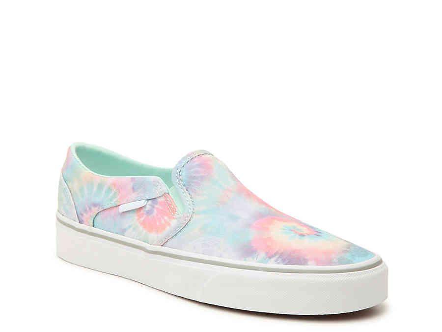 Vans Asher Tie Dye Slip-On Sneaker