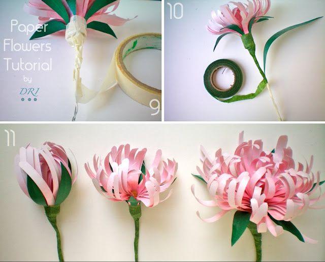 Paper Flowers Tutorial 3 Dri Paper Flowers Diy Giant Paper